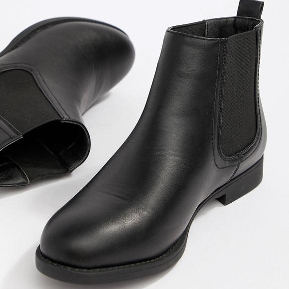 Park Lane Wide Fit Flat Chelsea Boots